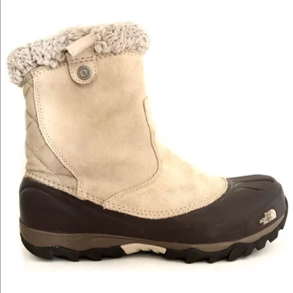 abd554ee4 North Face Women's Taupe Suede Winter Boots